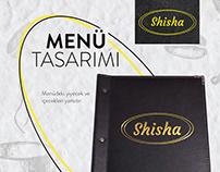 Shisha Menü Tasarımı
