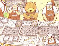 瑪利MAMA月餅禮盒包裝插畫
