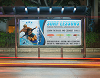 Surf Training Billboard Template