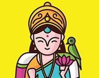 Indian Desi God Icons