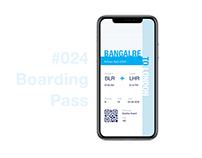 Boarding pass-UI Design challenge #024