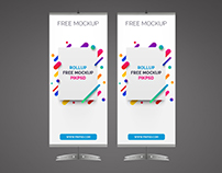 Free Rollup Banner Mockup Psd Template