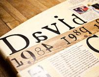 David Carson Timeline