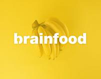 Brainfood healthy snacks brand design & mobile app