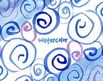 Watercolor spirals
