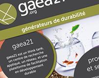 Roll-up de présentation de l'association gaea21