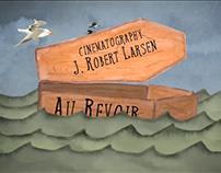 Au Revoir Titles—design, watercolor, animation