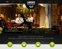LaMonte, WordPress Responsive Modern Restaurant Theme