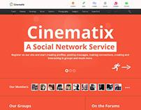 Cinematix, WordPress Community BuddyPress Theme
