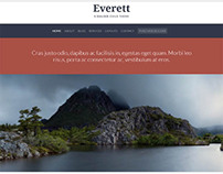 Everett, WordPress Simple Clean Responsive Child Theme