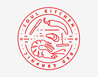 Kitchen. Red Graphic
