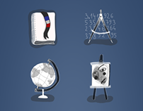 Icon set for app Objectif brevet des colleges 2013