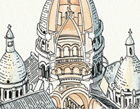 Sacre Coeur Illustration - May 2013