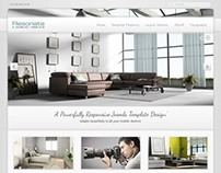 J51 Resonate, Joomla Architecture Furniture Template