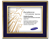 Traditional Framed Certificate Award Styles