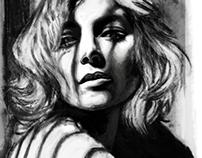 Female portrait, b/w. Part 2.