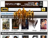 NBC Revolution WAP animated mobile ad for m.imdb.com