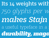 Stajn Pro Type Family — free weight Book DEMO