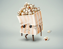 Sad/happy popcorn