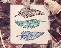 Zendoodle style feathers