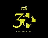 A+E Networks 30th Anniversary Logo Lockups