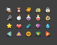 20 Free Basic Game Elements Icons