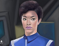 Star Trek: Discovery - painted in Adobe Photoshop CC