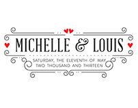 M&L Wedding Logo