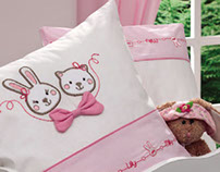 Child illustrations for textile accessories