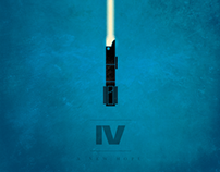 Star Wars Prints: Minimalist Lightsabers