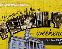 Family Weekend Postcard