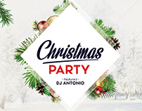 Christmas Party - Free PSD Flyer Template