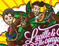"""Ilustración y diseño """"Lucille & The Conga Commandos"""""""