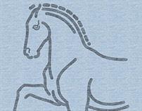 Trotting Horse Logo Graphic