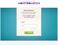 Operação Monstromática - Sistema do Professor (Layouts)