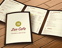 Zen Cafe Menu Design