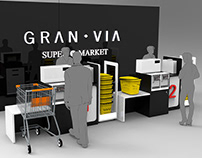 Commercial furniture for Supermarket, Tenerife Spain