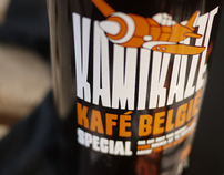 Kamikaze beer label, by Leffe Goldstein