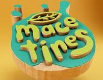 Macetines logo en 3D