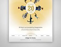 Cirque Du Soleil 20th Anniversary Ad Concepts