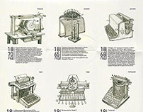 Infographics about typewriters