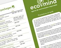 Dépliant eco-mind, agence de communication responsable