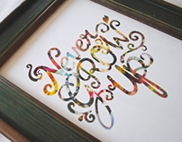 Never Grow Up Typography Artwork