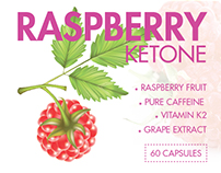 Raspberry Ketone Label Design