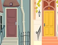 Illustration City Streets / Doors