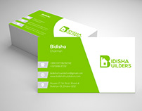 Clean Business Card Design for Real estate firm