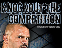 """Knockout the Competition"",Brisk in-store signage"