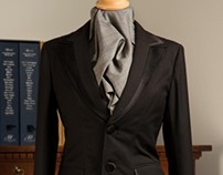 2 Button Peak Lapel Ladies Office 'Tuxedo'