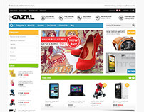 Gazal, Opencart Retina Ready Best 2013 Theme
