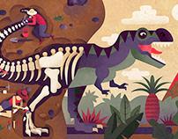 Editorial illustration - The Bone Hunters